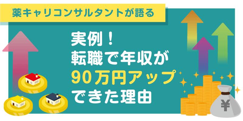 実例!転職で年収が90万円アップできた理由の画像