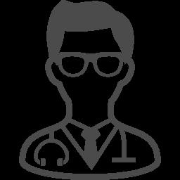 腹部の張りとイライラ症状。医師の判断は? 医師男性の画像